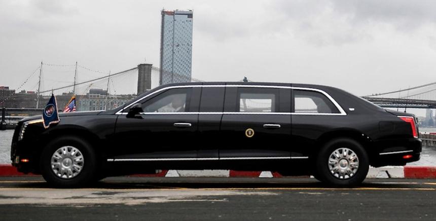 фотография лимузина президента Трампа